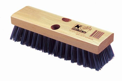 how to brush clean a deck