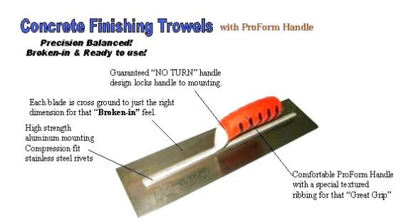 Masonry trowel and parts : Kraft tool concrete finishing trowel quot ebay